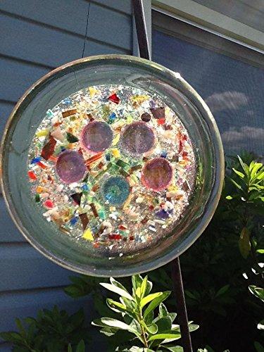 Stained Glass Cat Paw Window Art Sun Catcher