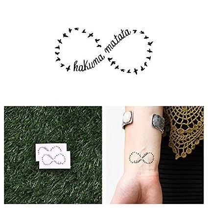 Tatuaje Temporal Tattify Hakuna Matata Círculo De La Vida Juego