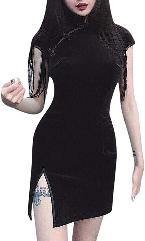TAOtTAO Vestido de Mujer Estilo gótico Punk Chino, Estilo Harajuku ...