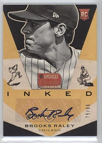 brooks-raley-75-89-baseball-card-2013-panini-americas-pastime-inked-i-bk