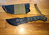Tops Knives T010 Tom Brown Tracker Fixed Blade Knife with Black Micarta Handles