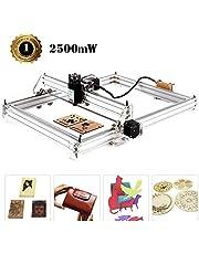 TOPQSC Kits de graveur laser bricolage CNC, Graveur laser de bureau 12V USB Carver,40X50CM Imprimante laser ajustable découpant et découpant du papier plastique léger, 2 axes (2500MW)