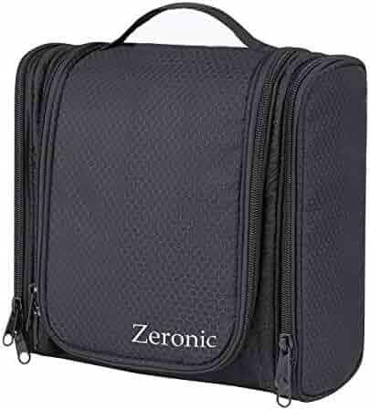 Toiletry Bag,Hanging Travel Toiletry Organizer Kit Portable Waterproof Cosmetics Bag ZERONIC Multifunctional Bathroom Shower Shaving Bag with Hook for Men or Women