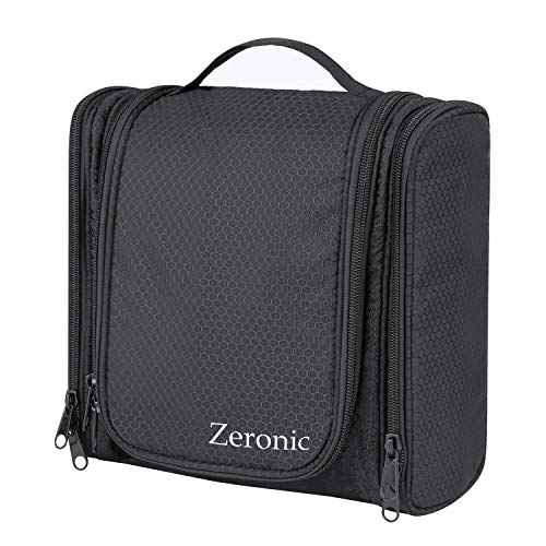 f371169722f0 Toiletry Bag,Hanging Travel Toiletry Organizer Kit Portable Waterproof  Cosmetics Bag ZERONIC Multifunctional Bathroom Shower Shaving Bag with Hook  for ...