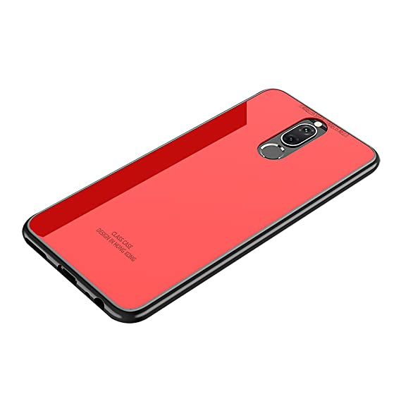 official photos 88c91 f8074 Huawei mate 10 lite case, Huawei Nova 2i case, Tempered Glass Back Cover +  Soft Silicone Bumper Full Body Protection Shockproof Cover Case for Huawei  ...