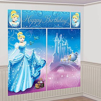 Cinderella 'Sparkle' Giant Scene Setter Wall Decorating Kit