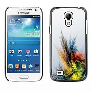 FECELL CITY // Duro Aluminio Pegatina PC Caso decorativo Funda Carcasa de Protección para Samsung Galaxy S4 Mini i9190 MINI VERSION! // Crayon Drawing Colors Bird