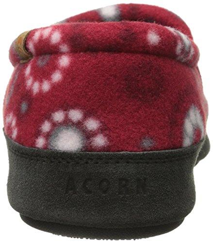 Acorn Women's Dots Slipper Red Moc rrCdSqxwp