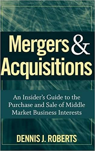 Mergers acquisitions an insiders guide to the purchase and sale mergers acquisitions an insiders guide to the purchase and sale of middle market business interests dennis j roberts 9780470262108 amazon books fandeluxe Image collections