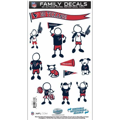 NFL Houston Texans Medium Family Decal Set