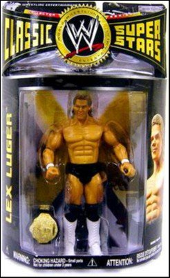 Super Stars - Series 15 - Lex Luger Action Figure - w/ Championship Belt - Limited Edition - Mint - Collectible ()