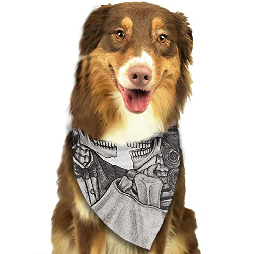 Jesiceeal Cute Pet Scarf Day Skull Hand Drawing On Dead Wedding Halloween Dia Catrina Love Mexican Dog Bandana Collars Triangle Neckerchief Puppy Cat Bibs Scarfs -