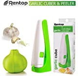 Garlic Press Garlic Cuber And Silicone Garlic Peeler, Rentop Garlic Cutter Magic Garlic Cuber,Cutter Squeeze Garlic...