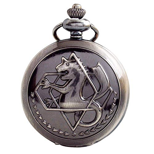 Fullmetal Alchemist Pocket Watch with Chain Box for