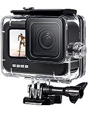 FitStill 60M Waterdichte Hoes voor GoPro HERO 9 Zwart, Beschermende Onderwater Duik Behuizing Shell met Beugel Accessoires voor Go Pro Hero9 Actiecamera