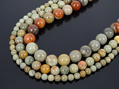 jennysun2010 Natural Larvikite Labradorite Gemstone 6mm Smooth Round Loose 60pcs Beads 1 Strand for Bracelet Necklace Earrings Jewelry Making Crafts Design Healing