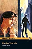 Penguin Readers 1: Run for your life Book & CD Pack: Level 1 (Pearson English Graded Readers) - 9781405878197