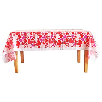 Enjoyable Amazon Com Binaryabc Valentines Day Disposable Tablecloth Ibusinesslaw Wood Chair Design Ideas Ibusinesslaworg