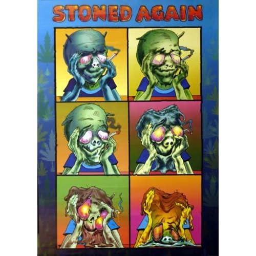 Amazon.com: Stoned Again Mann - Alien - R Crumb Style Art 25x34 Poster