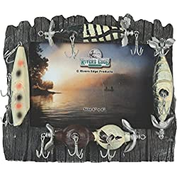 "Rivers Edge Fishing Lure Picture Frame - Holds 4"" X 6"" Photo"