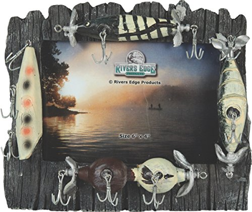 (Rivers Edge Fishing Lure Picture Frame - Holds 4