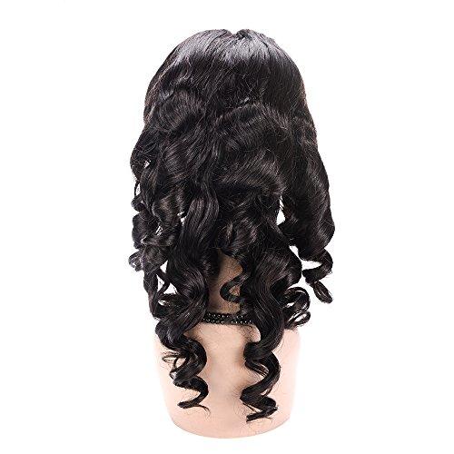Amazon.com : 100% Hand-Tied Glueless Full Lace Human Hair Wigs for Black Women Loose Wave Short Real Brazilian Remy Virgin Hair Peluca 130% Density 125g 12 ...