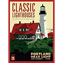 2019 Classic Lighthouses — The Graphic Art of Alan Claude 16-Month Wall Calendar: by Sellers Publishing, 14x10 (CA-0441)