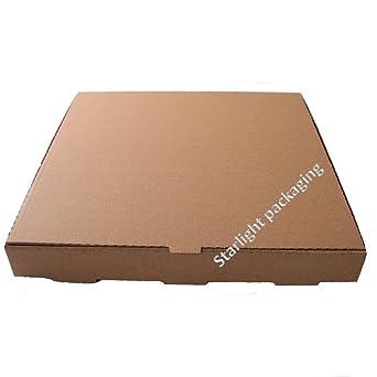 """Pack x 100 14 """"x 14"""" Plain cartón Cajas de pizza"""