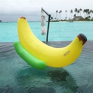 Juguete inflable gigante del flotador de la piscina del plátano ...