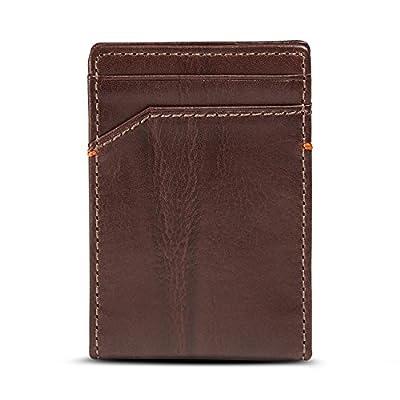 HOJ Co. Jack Center Magnetic Front Pocket Wallet-Money Clip Wallet-Bifold Wallet
