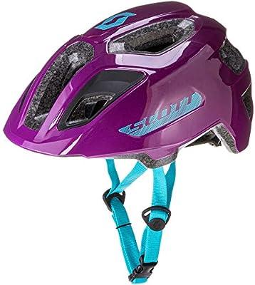Scott 275232, Casco de Bicicleta Unisex para niño, Color Morado ...