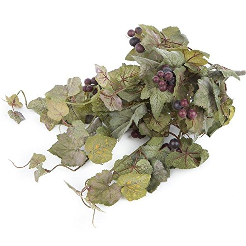 Factory Direct Craft Full Flocked Artificial Grape Leaf Bush for Home Decor, and Displaying