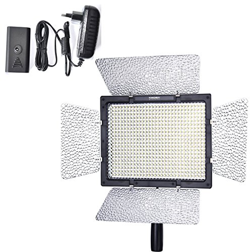 Yongnuo Yn-600 Led Video Light with 1 Ac Power Adapter for Canon Rebel T3 T2i T1i Xsi Xt Xti Xs Xsi T1i 5d Mark III Ii 7d 60d Camera SLR Dslr Illumination Lamp Cam Camcorder by Yong Nuo Photographic Equipment Co. Ltd.