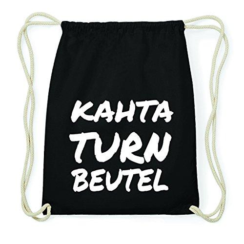 JOllify KAHTA Hipster Turnbeutel Tasche Rucksack aus Baumwolle - Farbe: schwarz Design: Turnbeutel