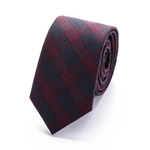 slim plaid tie 6 cm cotton necktie men black blue red grey mens gift