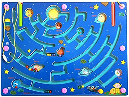 HappyToy Magnetic laberinto de madera rompecabezas laberinto ...