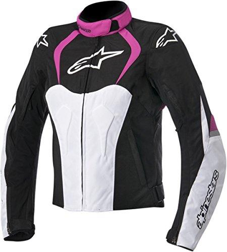 Alpinestars Women's Stella Jaws Waterproof Textile Jacket (MEDIUM) (BLACK/PINK)