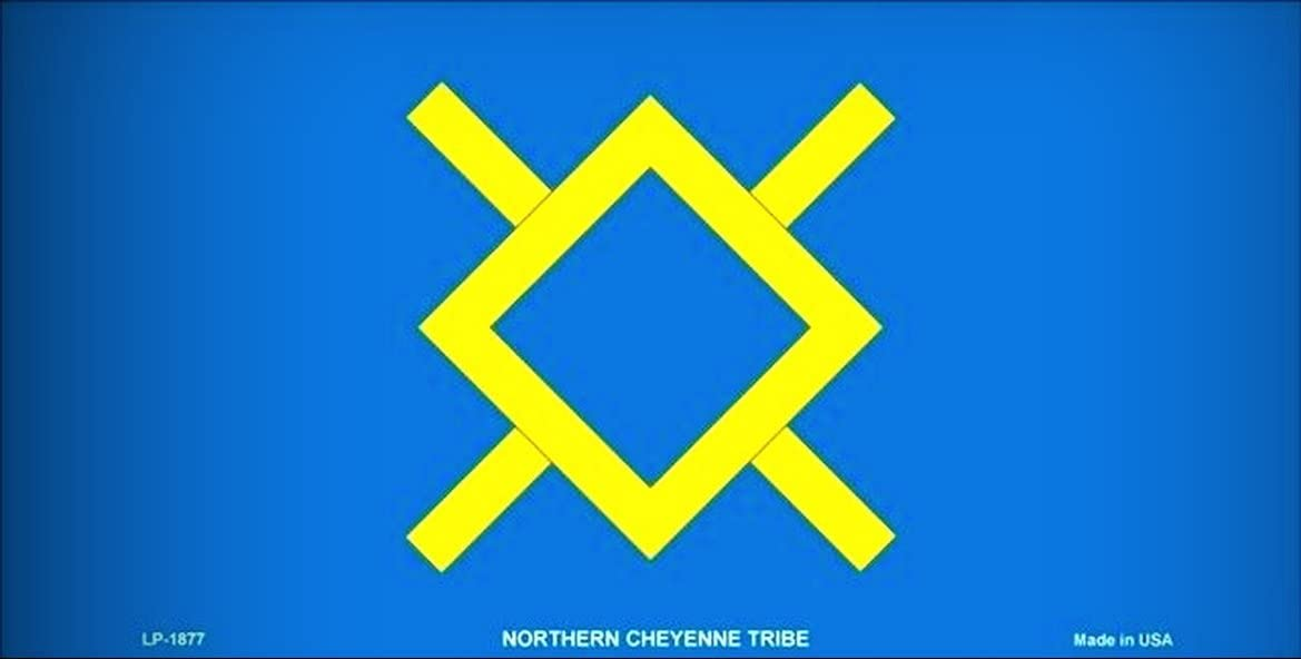 Northern Cheyenne Flag Vanity Metal Novelty License Plate