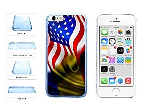 Romania And USA Mixed Flag Clear Plastic Phone Case Back Cover Apple iphone 4 4s ( es screen) includes fashion case Cloth and Warranty Label