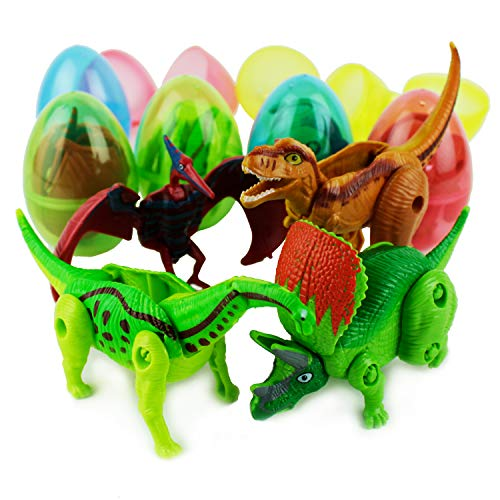 Boley 8-Pack Dino Mutants - Dino Egg Transforming Dinosaur Toy - Great as Dinosaur Party Supplies, Birthday Party Favors, and More