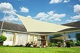 "Kookaburra Breathable Sun Sail Shade - Ivory - 9ft 10"" x 6ft 7"" Rectangular"