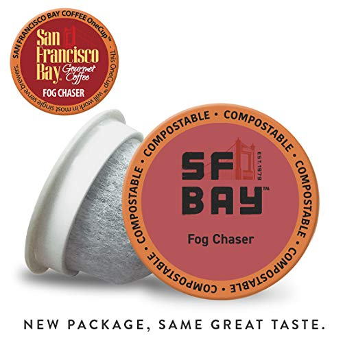 SF Bay Coffee Fog Chaser 120 Ct Medium Dark Roast Compostable Coffee Pods, K Cup Compatible including Keurig 2.0 (Packaging May Vary)