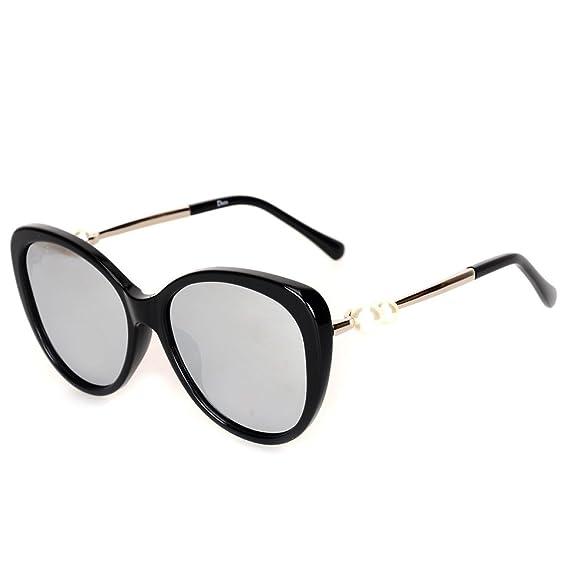 Wkaijc Doppel Perle Polarisiert Mode Persönlichkeit Kreativität Lässig Bequem Sonnenbrillen Sonnenbrillen ,D