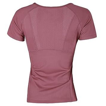 Selotrot Mujer Yoga Camisetas Corte Slim Secado Rápido ...