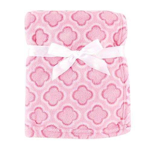 Luvable Friends Print Coral Fleece Blanket, Pink Clover