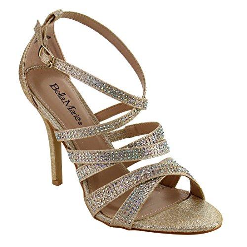 champagne color dress sandals - 3