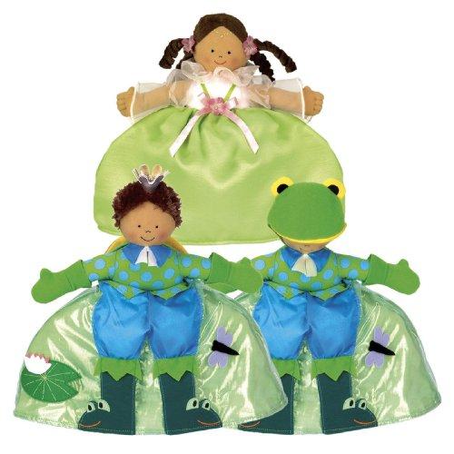 Photo Topsy Turvy Doll Princess Tan/Frog Prince