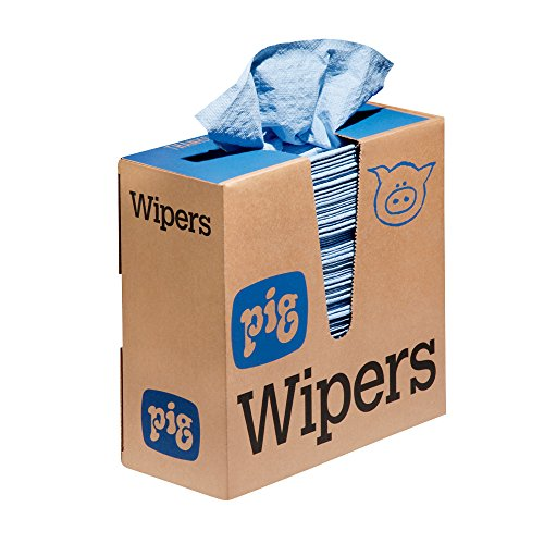 New Pig PR35 Maintenance Wipers, Medium-Duty Pop-Up Wipers in Dispenser Box, 17