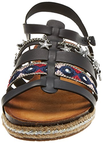 Refresh Femme 64244 Ouvert Bout Sandales Black Noir rTrPwq7R