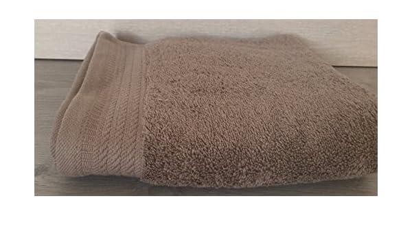 Ajuar Rizo - Toalla de Lavabo 600 gr. 100% algodón peinado color visón 50x100 cm: Amazon.es: Hogar